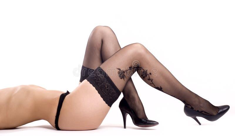 γυναικεία κάλτσα στοκ φωτογραφίες