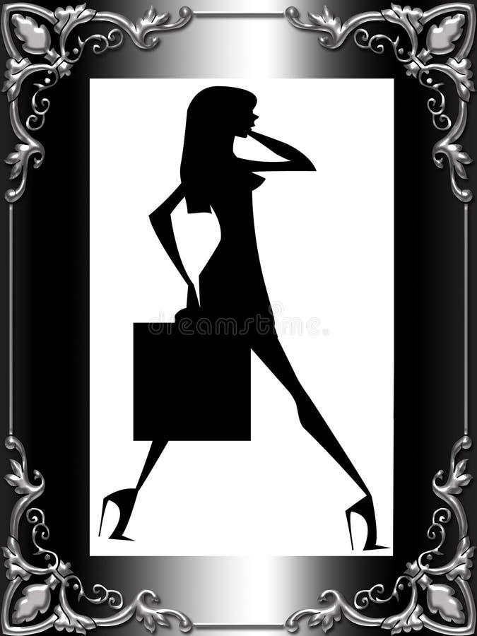 γυναικεία σκιαγραφία μ&omicron απεικόνιση αποθεμάτων