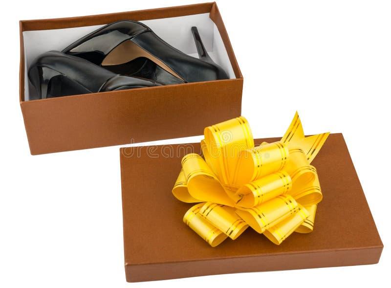 Γυναικεία υψηλά βαλμένα τακούνια παπούτσια στο shoebox στοκ εικόνα με δικαίωμα ελεύθερης χρήσης