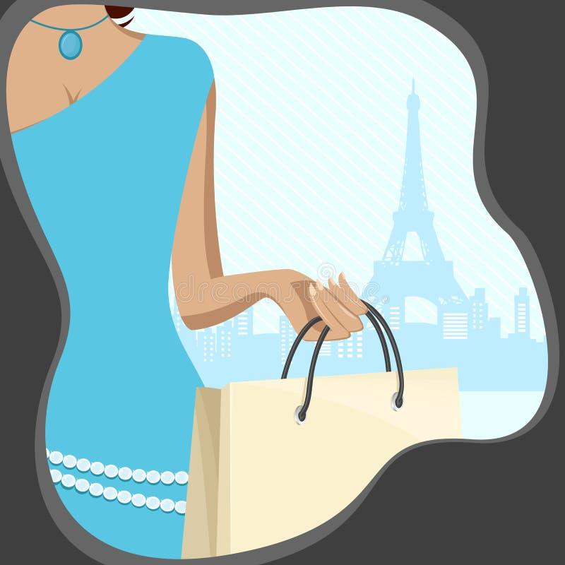 γυναικείες αγορές τσαν& ελεύθερη απεικόνιση δικαιώματος