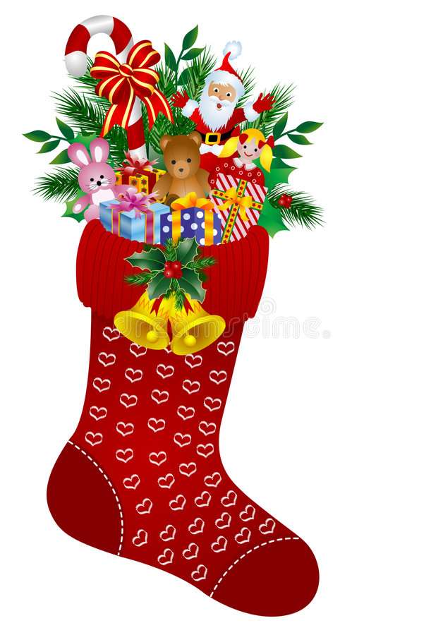 γυναικείες κάλτσες Χριστουγέννων απεικόνιση αποθεμάτων