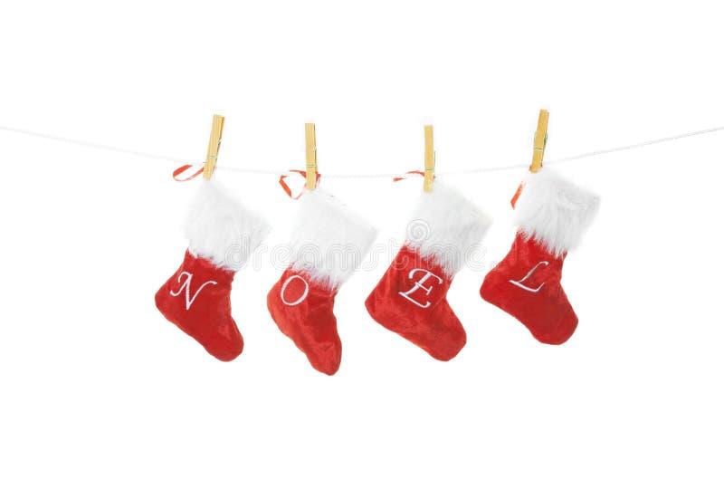 Γυναικείες κάλτσες Noel στοκ εικόνες
