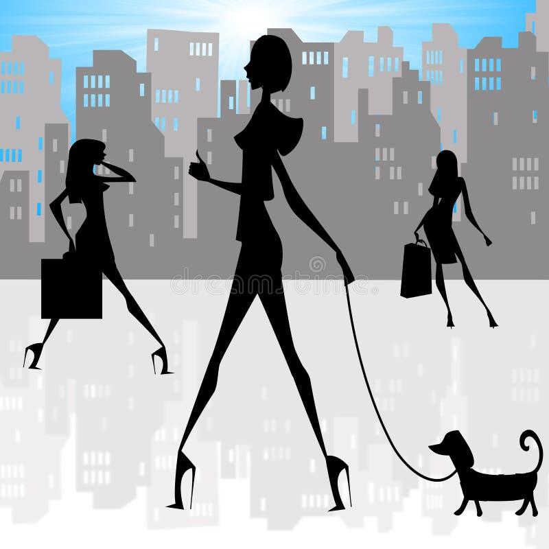 γυναικείες σκιαγραφίε& ελεύθερη απεικόνιση δικαιώματος