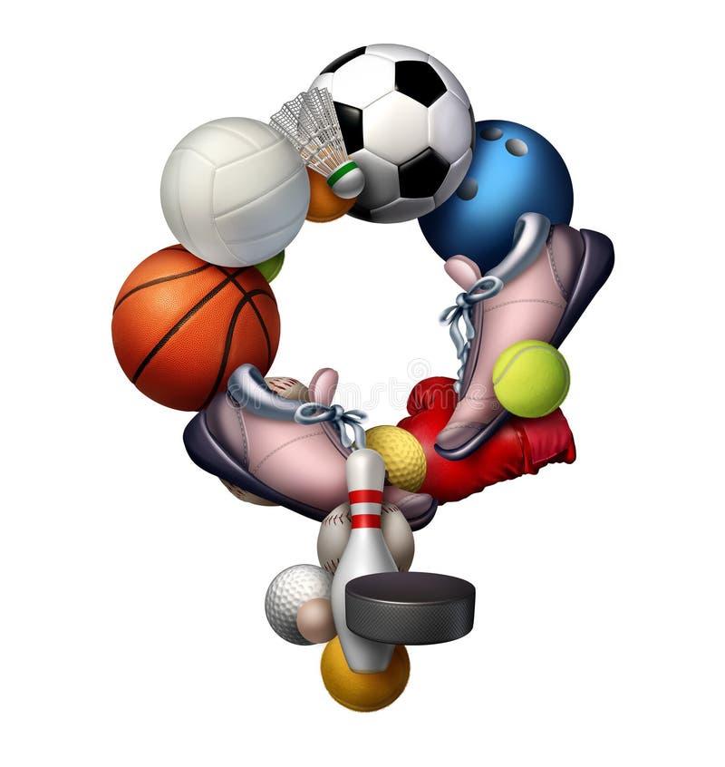 Γυναικείος αθλητισμός διανυσματική απεικόνιση