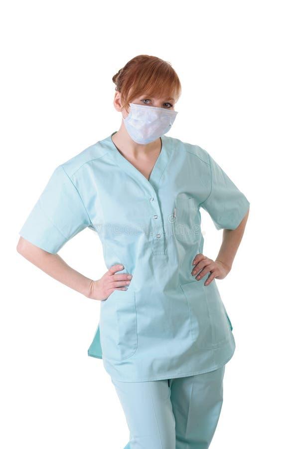 Γυναικείος γιατρός με την τοποθέτηση αναπνευστικών συσκευών στοκ φωτογραφίες με δικαίωμα ελεύθερης χρήσης
