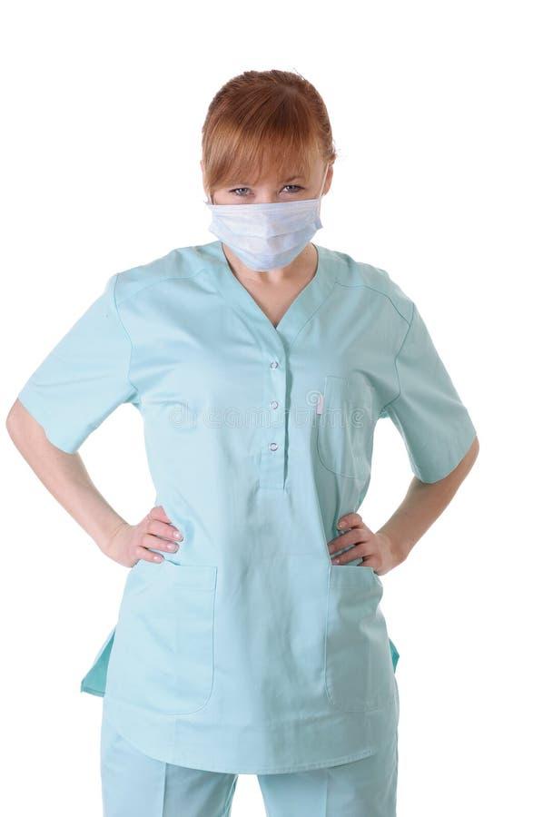 0 γυναικείος γιατρός με την τοποθέτηση αναπνευστικών συσκευών στοκ εικόνες με δικαίωμα ελεύθερης χρήσης