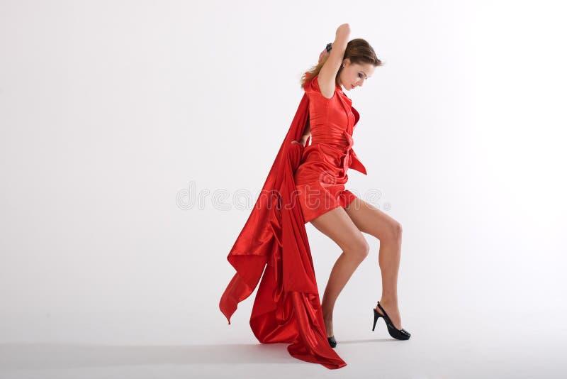 γυναικείος κόκκινος πρ&om στοκ εικόνες
