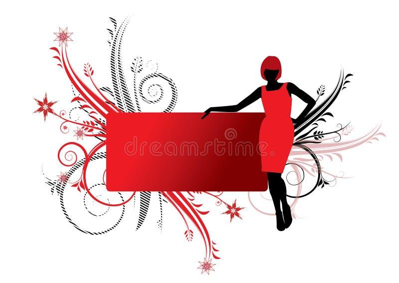 γυναικείο κόκκινο απεικόνιση αποθεμάτων