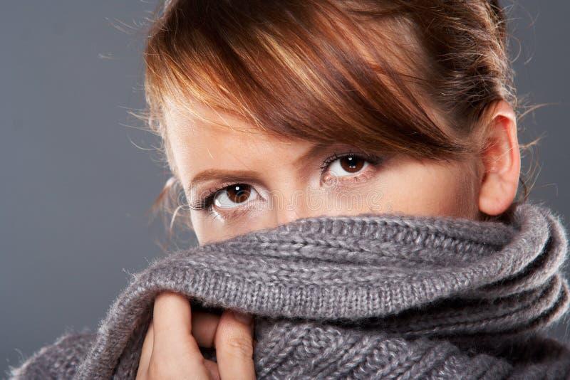 γυναικείο πουλόβερ στοκ εικόνα
