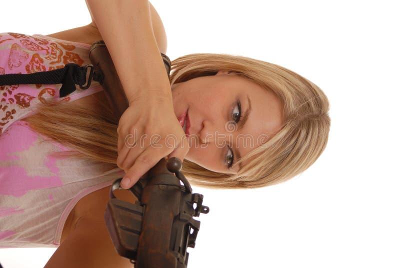 γυναικείο τουφέκι δύο στοκ εικόνες