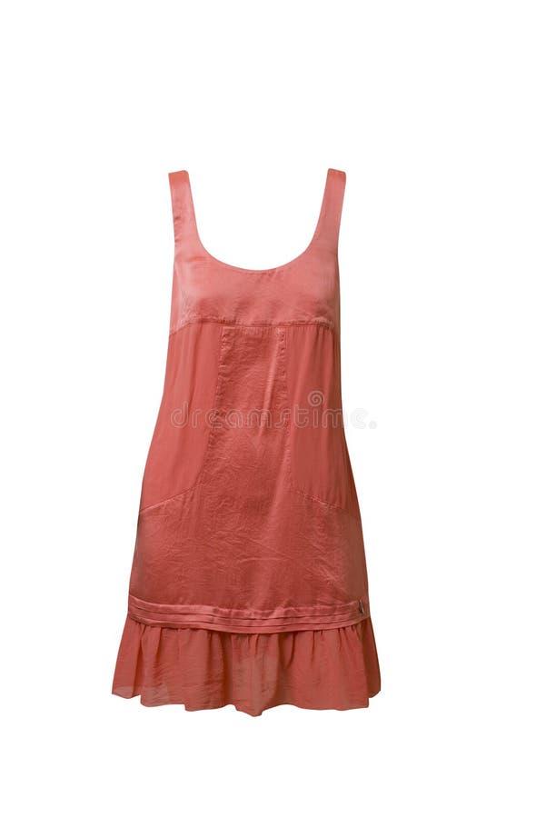 Γυναικών s sundress που απομονώνονται κόκκινα στο λευκό στοκ φωτογραφία με δικαίωμα ελεύθερης χρήσης