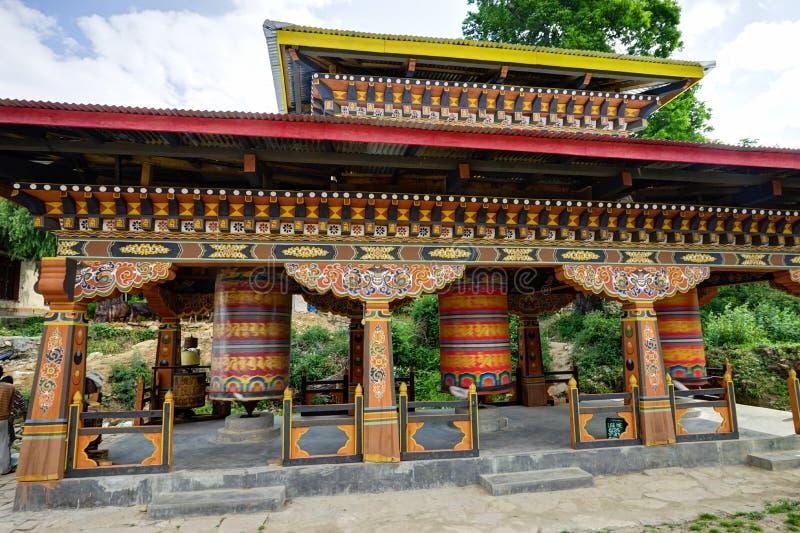 Γυρίζοντας μάντρα στο Μπουτάν στοκ φωτογραφίες με δικαίωμα ελεύθερης χρήσης