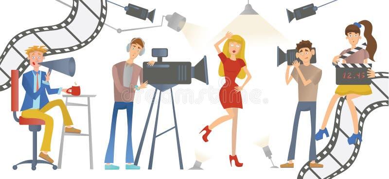 Γυρίζοντας μια ταινία ή μια TV παρουσιάστε ελεύθερη απεικόνιση δικαιώματος