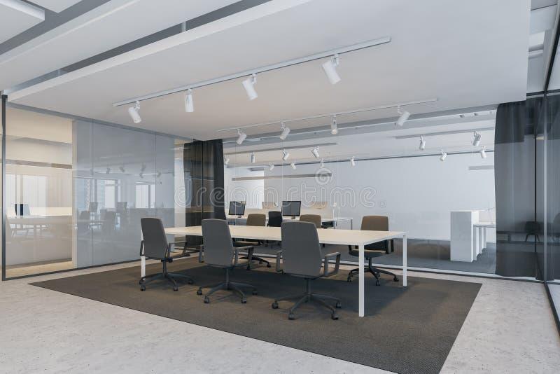 Γωνία αίθουσας συνδιαλέξεων στο γραφείο ανοιχτού χώρου απεικόνιση αποθεμάτων