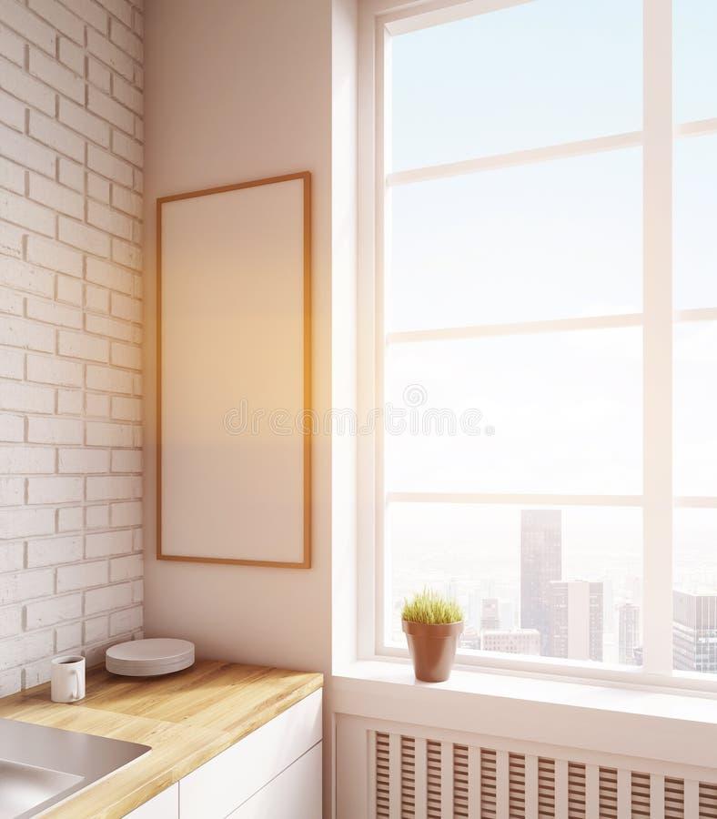 Γωνία κουζινών με την αφίσα διανυσματική απεικόνιση