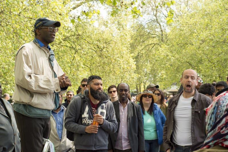 Γωνία ομιλητών του Χάιντ Παρκ στο Λονδίνο στοκ εικόνες με δικαίωμα ελεύθερης χρήσης