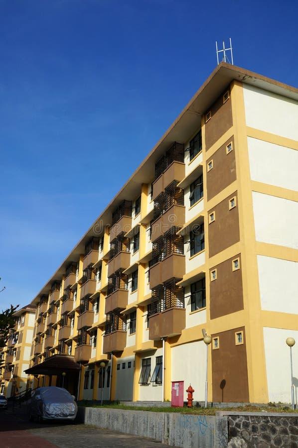Γωνία της επίπεδης εξωτερικής άποψης οικοδόμησης στοκ φωτογραφία με δικαίωμα ελεύθερης χρήσης