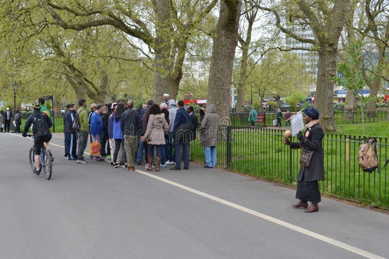 Γωνία Χάιντ Παρκ Λονδίνο ομιλητών στοκ φωτογραφία
