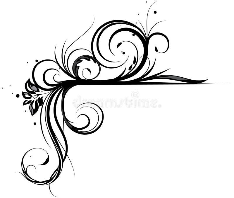 γωνία floral διανυσματική απεικόνιση