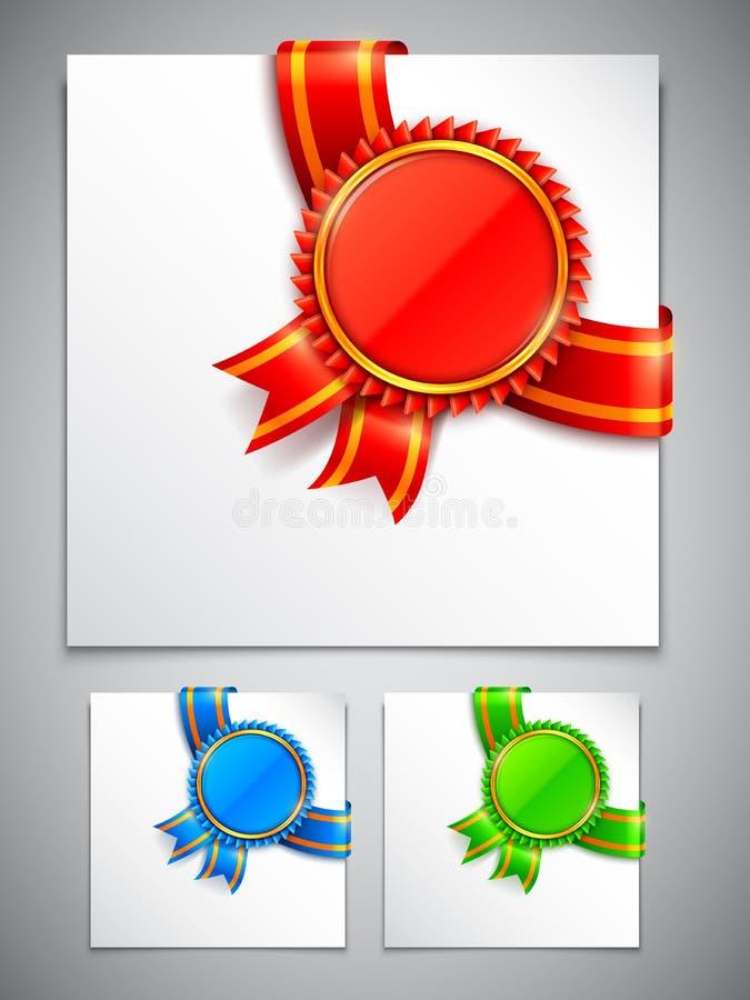 Γωνίες μεταλλίων βραβείων διανυσματική απεικόνιση