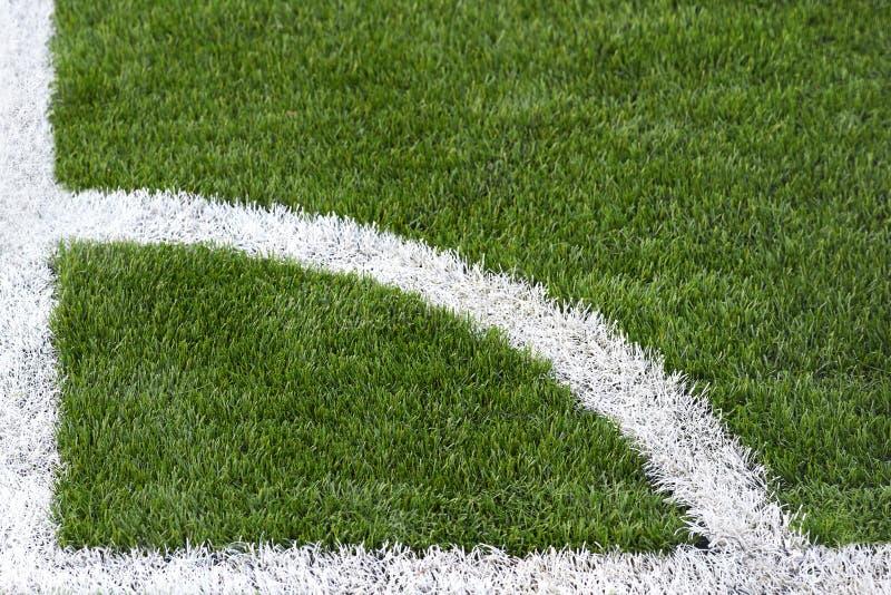 Γωνιακός χαρακτηρισμός στο αγωνιστικό χώρο ποδοσφαίρου στοκ εικόνες με δικαίωμα ελεύθερης χρήσης