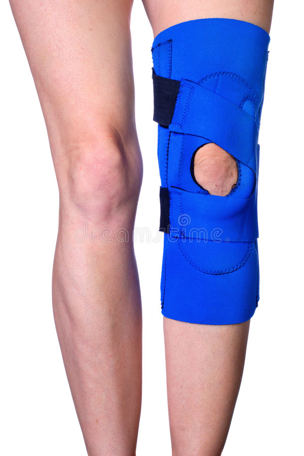 γόνατο τραυματισμών στηρι&ga στοκ εικόνες