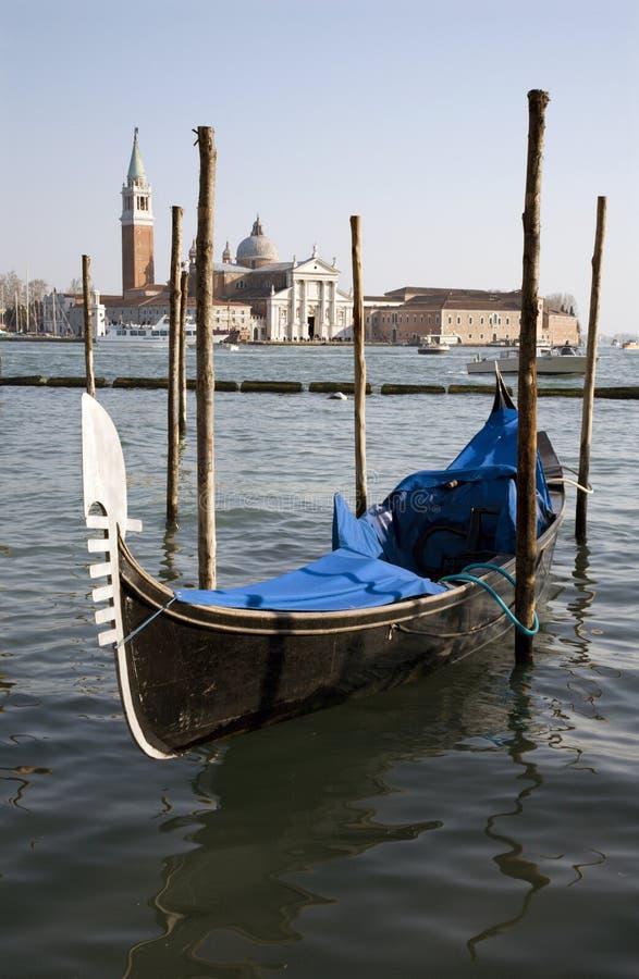 γόνδολα SAN Βενετία του Giorgio στοκ εικόνα με δικαίωμα ελεύθερης χρήσης