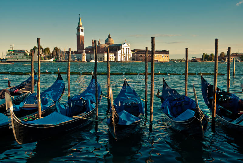 Γόνδολες στη Βενετία στοκ εικόνα με δικαίωμα ελεύθερης χρήσης