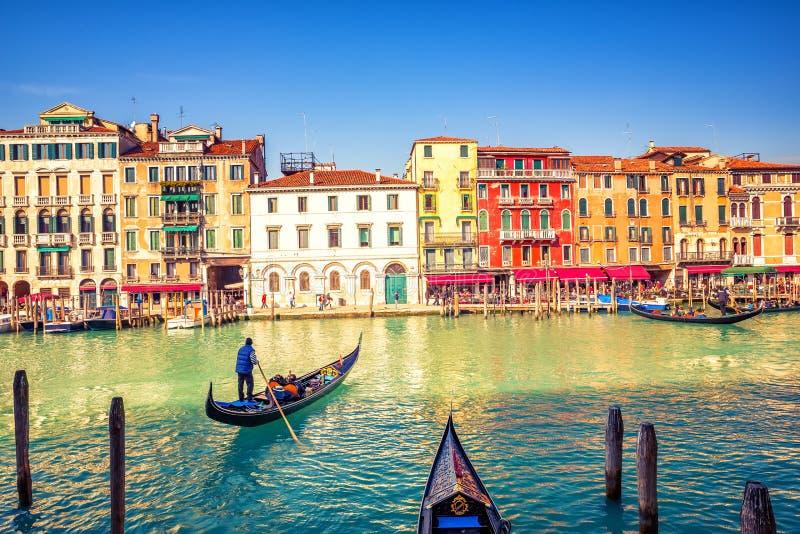 γόνδολα μεγάλη Βενετία κ& στοκ εικόνα
