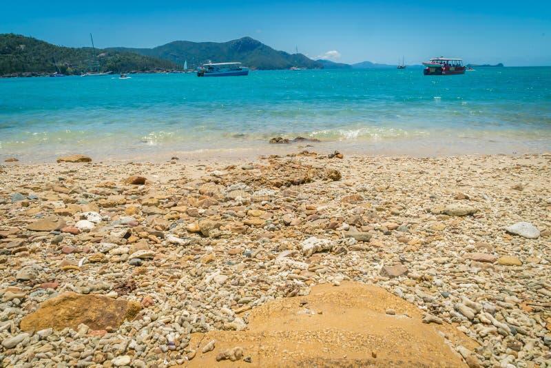 Γύρος βαρκών για να εξερευνήσει τα νησιά whitsundays στην Αυστραλία στοκ εικόνες με δικαίωμα ελεύθερης χρήσης