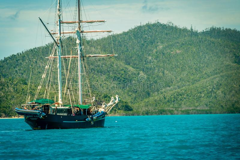 Γύρος βαρκών στα νησιά Whitsundays στην Αυστραλία στοκ εικόνες με δικαίωμα ελεύθερης χρήσης