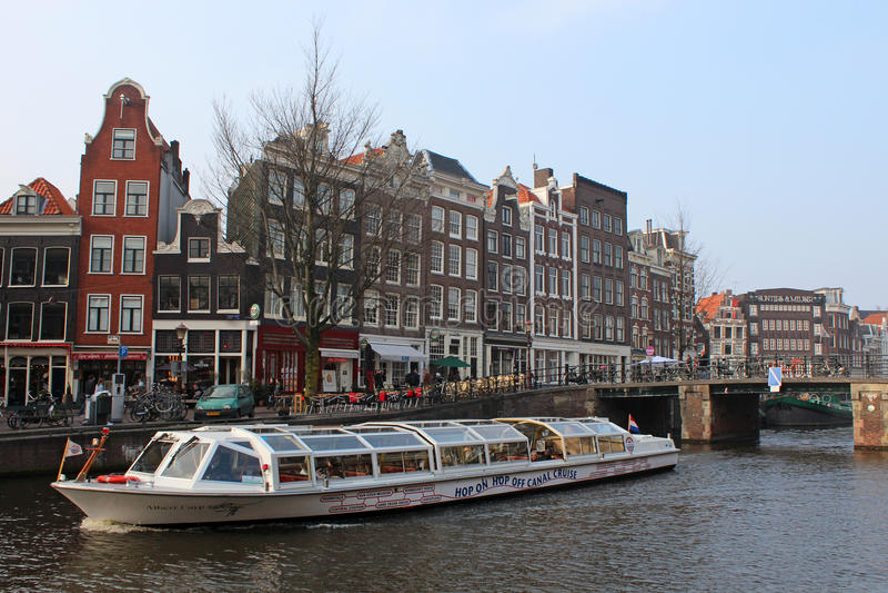 γύρος βαρκών του Άμστερνταμ στοκ εικόνα με δικαίωμα ελεύθερης χρήσης