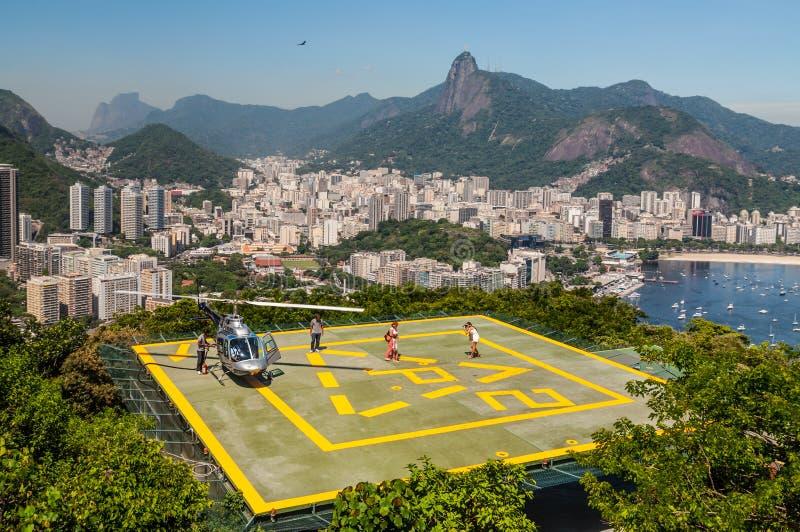 Γύρος ελικοπτέρων Ρίο ντε Τζανέιρο στοκ φωτογραφία με δικαίωμα ελεύθερης χρήσης