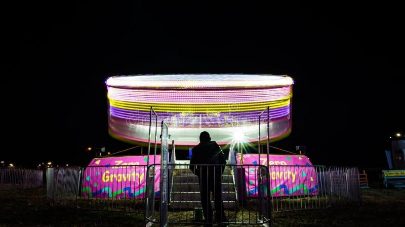 Γύρος καρναβαλιού Whirly στο Τέξας στοκ εικόνα με δικαίωμα ελεύθερης χρήσης