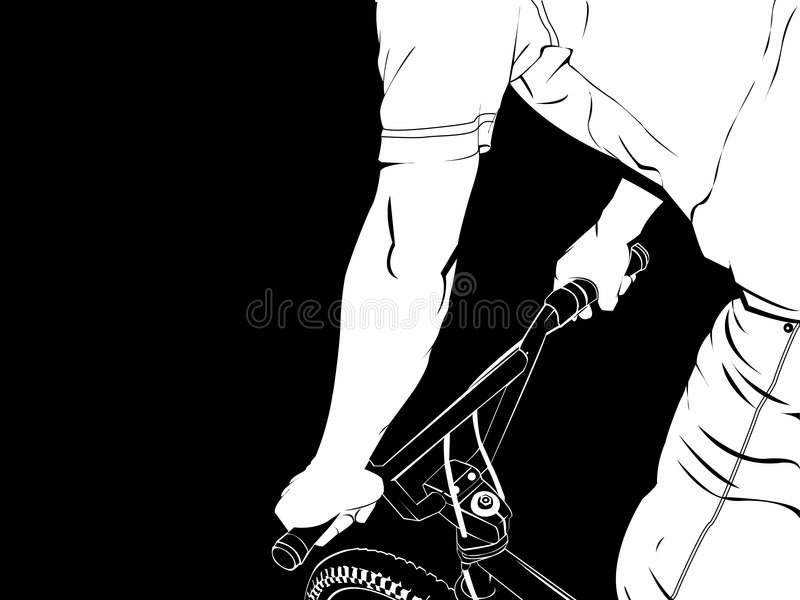 Download γύρος ποδηλάτων bmx διανυσματική απεικόνιση. εικονογραφία από χέρι - 1525345
