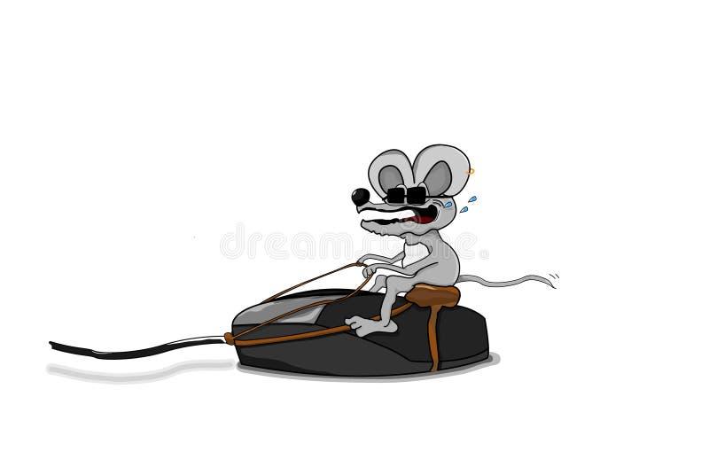 Γύρος ποντικιών στο ποντίκι PC στοκ φωτογραφίες