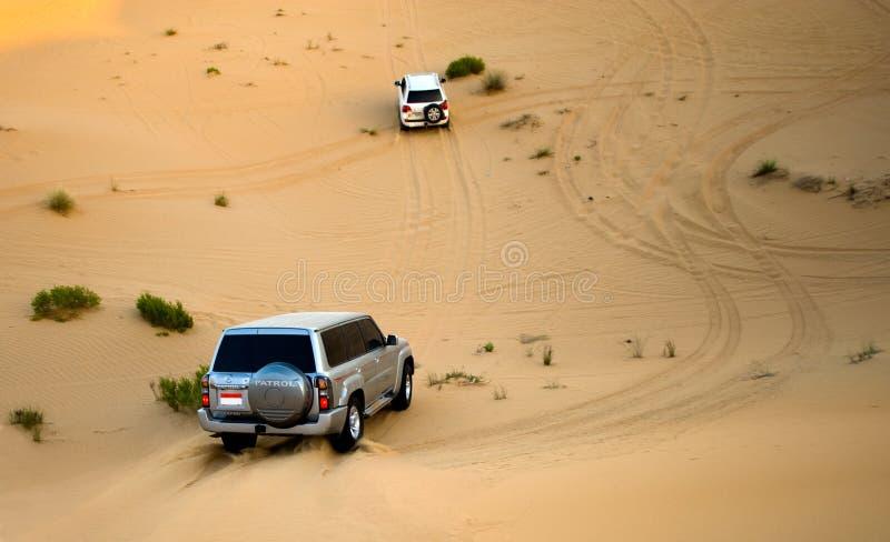 Γύρος σαφάρι μέσω της ερήμου στοκ εικόνες