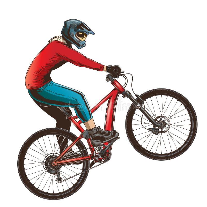 Γύρος σε ένα αθλητικό ποδήλατο απεικόνιση αποθεμάτων