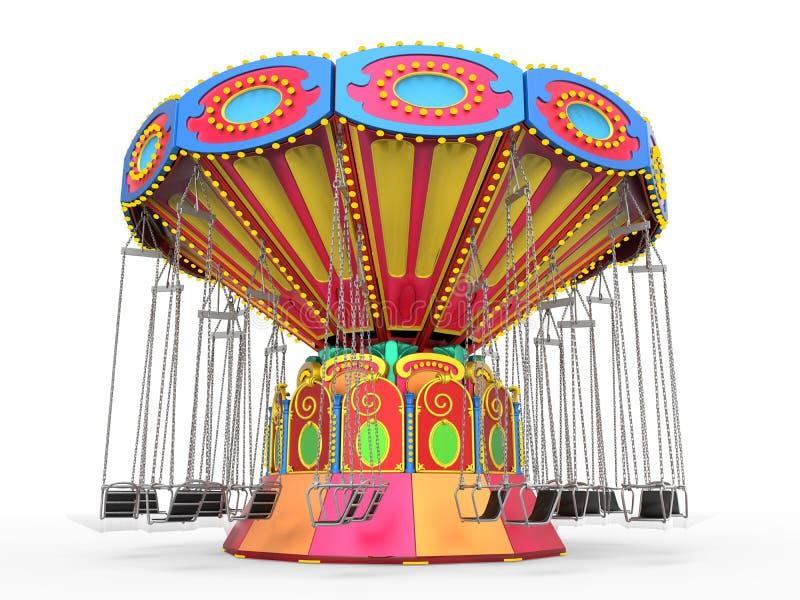 Γύρος ταλάντευσης καρναβαλιού διανυσματική απεικόνιση
