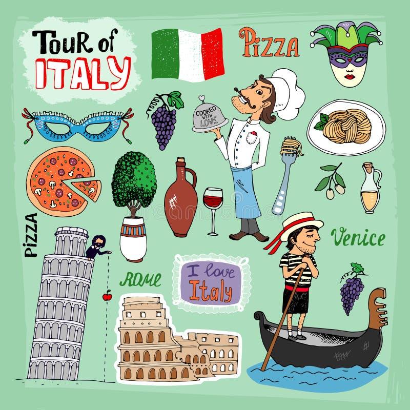 Γύρος της απεικόνισης της Ιταλίας ελεύθερη απεικόνιση δικαιώματος