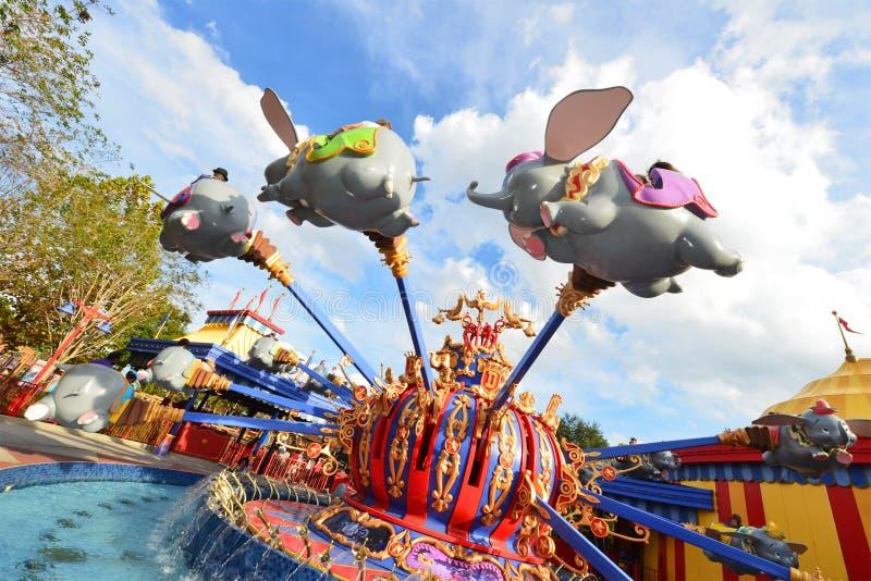 Γύρος της παγκόσμιας Φλώριδας Traval Dumbo της Disney στοκ φωτογραφία