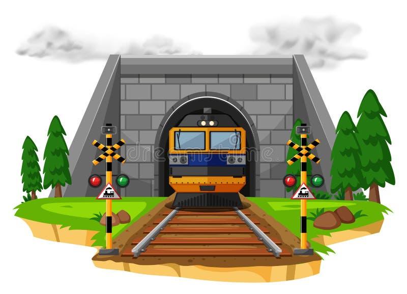 Γύρος τραίνων στο σιδηρόδρομο απεικόνιση αποθεμάτων