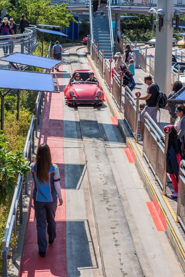 Γύρος Autopia σε Disneyland στοκ εικόνα