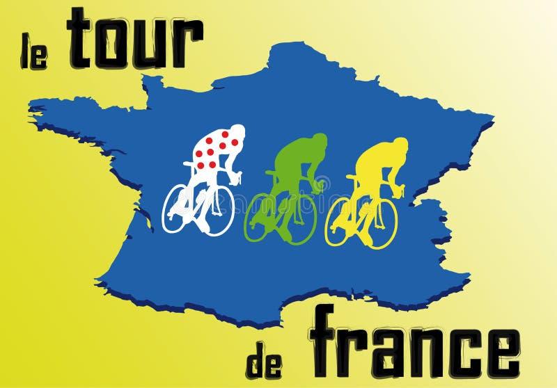 γύρος de Γαλλία διανυσματική απεικόνιση
