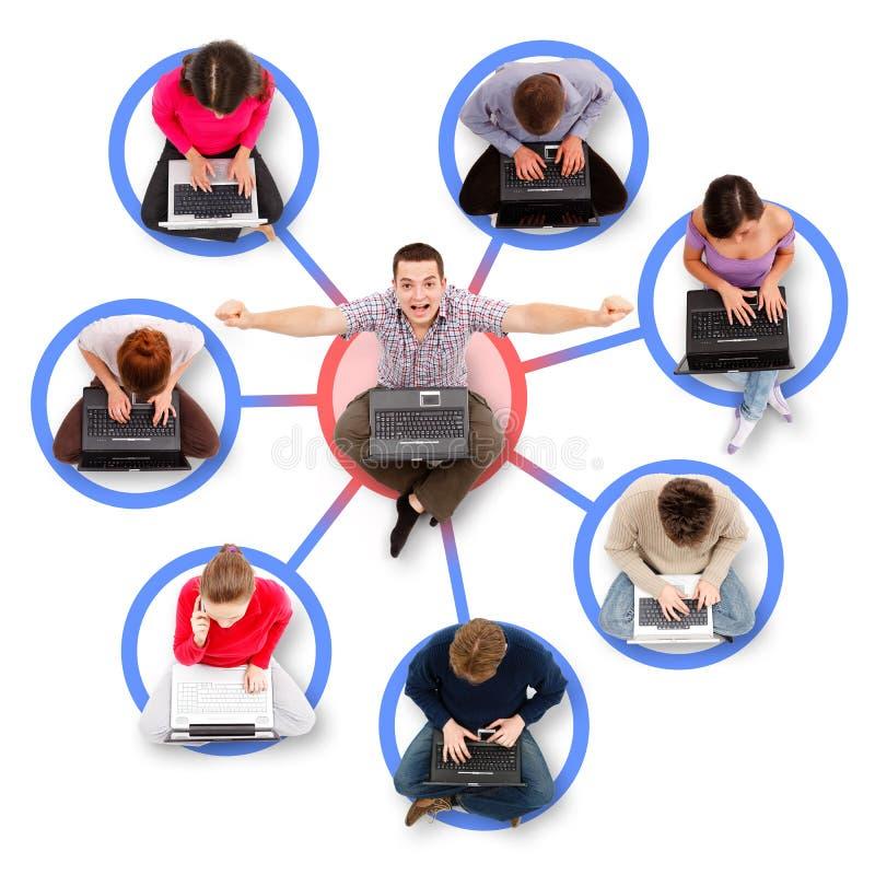 γύρω από το δίκτυο ένα μελών &a στοκ φωτογραφία