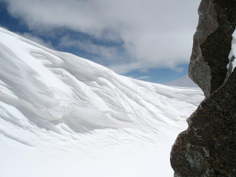 γύρω από το χιόνι βράχου αυ&lambd στοκ εικόνες με δικαίωμα ελεύθερης χρήσης