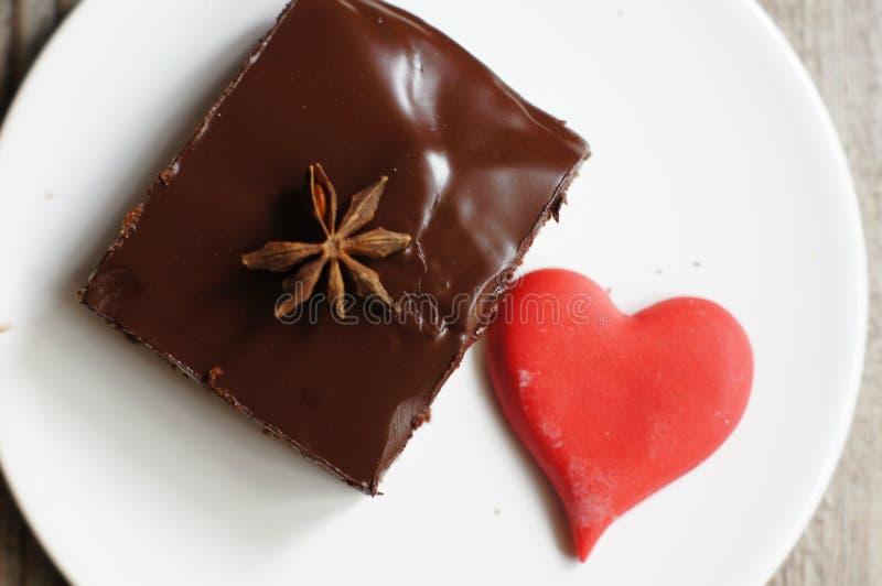 Γλυκά και καρδιά στοκ εικόνα