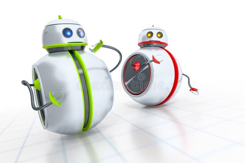Γλυκά μικρά ρομπότ ελεύθερη απεικόνιση δικαιώματος