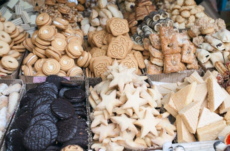 Γλυκά στην αγορά στοκ φωτογραφία