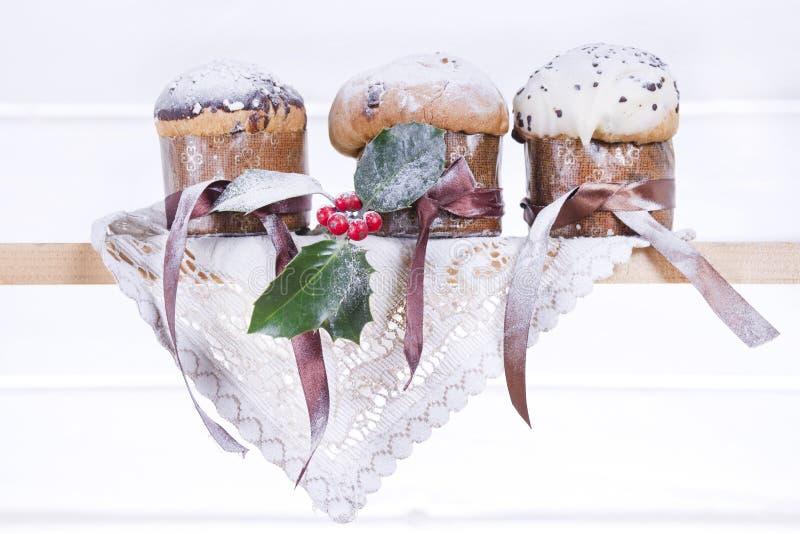 Γλυκά Χριστούγεννα, Panettone στοκ εικόνες